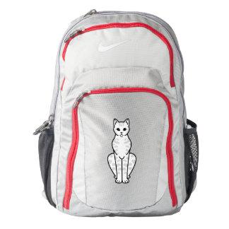 Asian Tabby Cat Cartoon Backpack