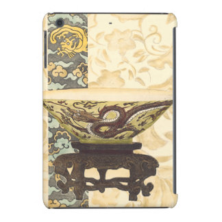 Asian Tapestry with Bowl and Dragon Design iPad Mini Cases