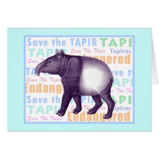 Asian Tapir / Malay Tapir - Greeting Card
