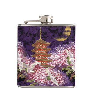 Asian Temple Hip Flask