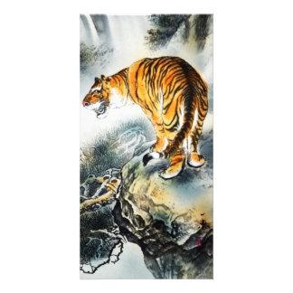 Asian Tiger Photo Card Template