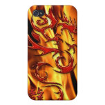 Asian Tribal Red Dragon & Flames iPhone Case Cases For iPhone 4
