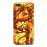 Asian Tribal Red Dragon & Flames iPhone Case Cover For iPhone 5