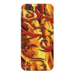 Asian Tribal Red Dragon & Flames iPhone Case Covers For iPhone 5