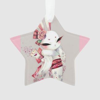 Asian White Rabbit ornaments