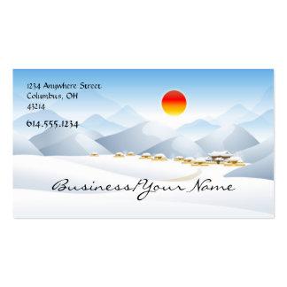 Asian Winter Sun Design 2 Business Card