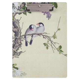 Asian Wisteria Flowers Birds Flowers Clipboard