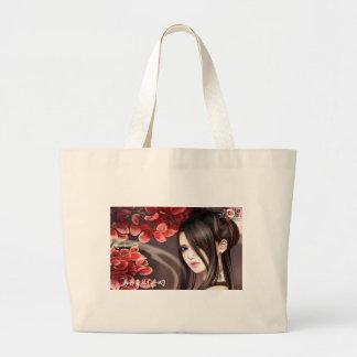 Asian woman tote bag