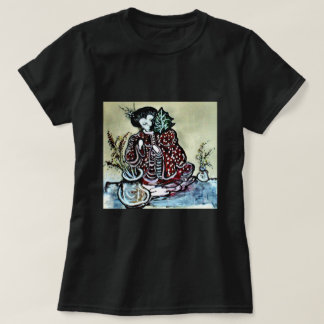 """""""Asian Woman with Leaf """" T-Shirt"""