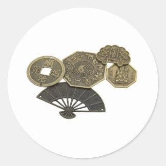 AsianCoins062109 Classic Round Sticker