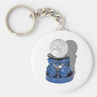 AsianDragonCrystalBall062210Shadow Basic Round Button Key Ring