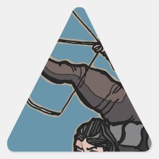 AsianFeetArcher Triangle Sticker
