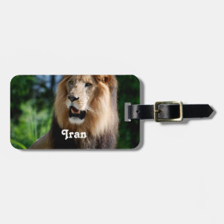 Asiatic Lion of Iran Luggage Tag