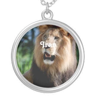 Asiatic Lion of Iran Silver Plated Necklace