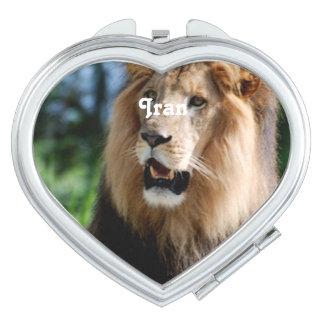 Asiatic Lion of Iran Vanity Mirror