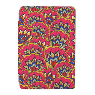 Asiatic red vibrant floral pattern iPad mini cover