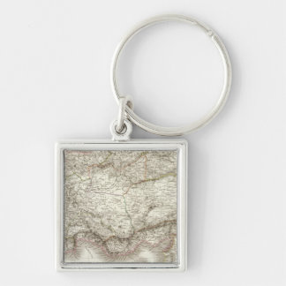 Asie Mineure ancienne - Ancient Asia Minor Silver-Colored Square Key Ring