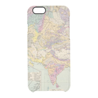 Asien u Europa - Atlas Map of Asia and Europe Clear iPhone 6/6S Case