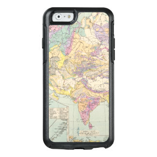Asien u Europa - Atlas Map of Asia and Europe OtterBox iPhone 6/6s Case