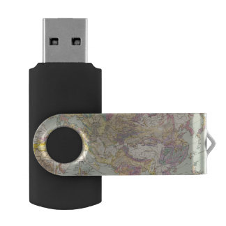 Asien u Europa - Atlas Map of Asia and Europe Swivel USB 2.0 Flash Drive