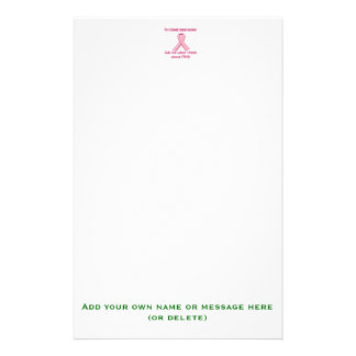 Ask a breast cancer survivor about pink! customized stationery