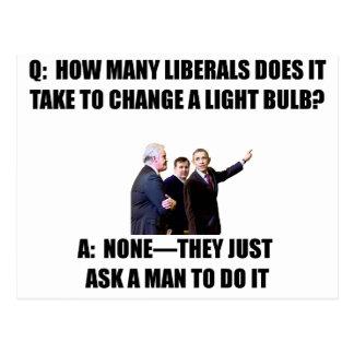 Ask a Man Postcard