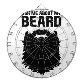 Ask About My Beard Dartboard