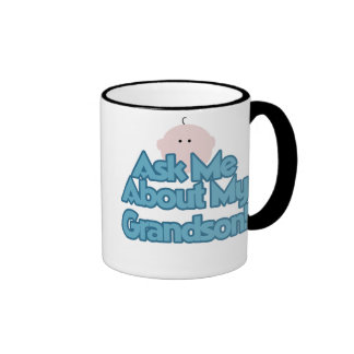 Ask About My Grandson Coffee Mugs