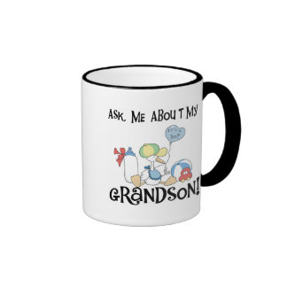 Ask About My Grandson Tshirts and Gifts Coffee Mug