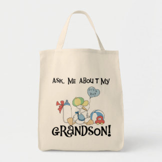 Ask About My Grandson Tshirts and Gifts Canvas Bag