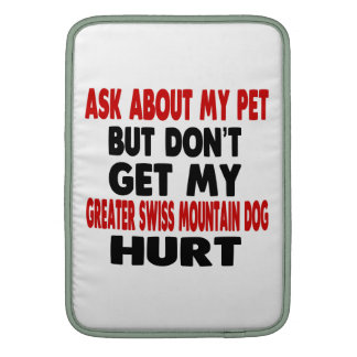 Ask About my Greater Swiss Mountain Dog MacBook Air Sleeves