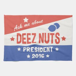 Ask Deez Nuts Tea Towel