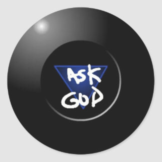 Ask God Magic 8Ball sticker