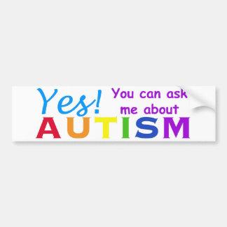 Ask Me About Autism Bumper Sticker