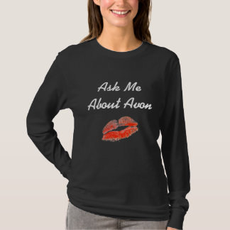 Ask Me About Avon Shirt - Black Long Sleeve