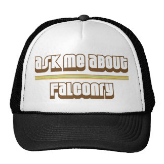 Ask Me About Falconry Cap