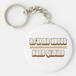 Ask Me About Hang Gliding Key Ring