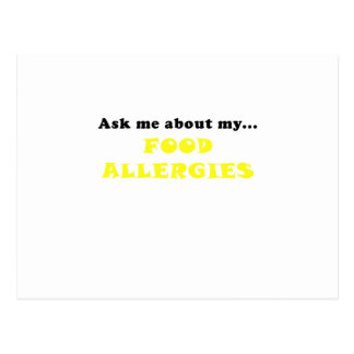 Ask Me About My Food Allergies Postcard