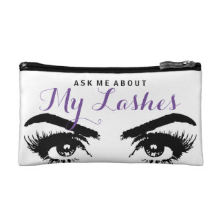 ASK ME ABOUT MY LASHES Makeup Bag