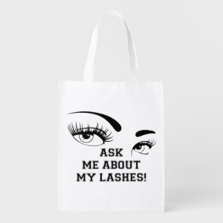 Ask Me About my Lashes - reusable bag