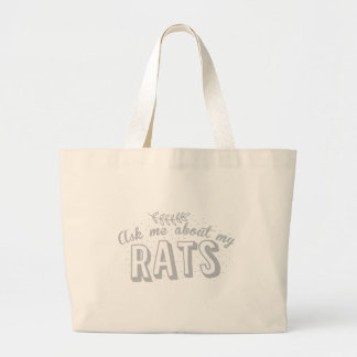 ask me about my rats large tote bag