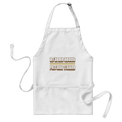 Ask Me About Personal Training Aprons