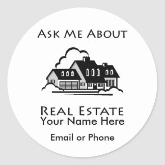 Ask Me About Real Estate Sticker