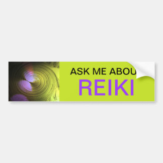 ASK ME ABOUT REIKI - bumper stickers