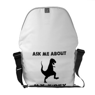 Ask Me About T Rex Funny Messenger Bag