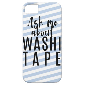 Ask Me About Washi Tape - Blue Candy Stripes iPhone 5 Covers