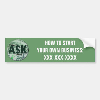 Ask Me Bumper Sticker