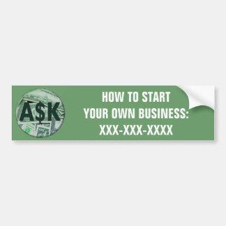 Ask Me Bumper Sticker
