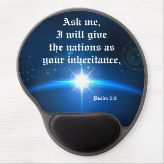 Ask me I will give the nations Bible Verse Gel Mouse Pad