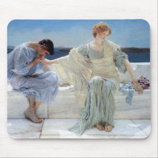 Ask Me No More by Alma Tadema, Vintage Romanticism Mousepads